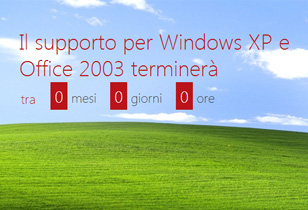 Termine del supporto Microsoft di Windows  XP